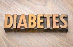 糖尿病-在活版木头类型的词 免版税库存照片