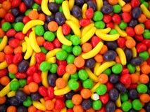 糖果上色水果的墨西哥 免版税图库摄影