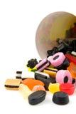 糖果五颜六色的下落 库存照片