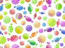 糖果五颜六色的模式无缝镶边 库存照片