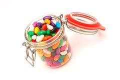 糖果五颜六色的玻璃 库存照片