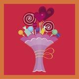 糖果五颜六色的花束  免版税库存照片