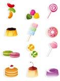 糖果动画片图标 免版税图库摄影
