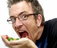 糖果吸毒者 库存照片