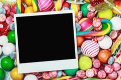 糖果和口香糖的框架 免版税库存图片
