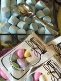 糖果和柔和的淡色彩 库存照片