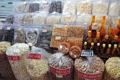 糖果和甜点的不同的类型在西贡,越南 库存照片
