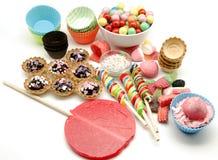 糖果和甜点 免版税库存照片