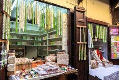 糖果商店在菲斯麦地那在摩洛哥 免版税库存照片