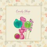 糖果商店 也corel凹道例证向量 免版税库存图片