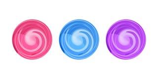 糖果圆的漩涡传染媒介例证, lollypop象 图库摄影