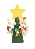 糖果圣诞树 库存照片