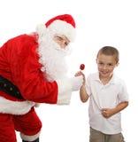 糖果圣诞老人 免版税库存图片