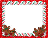 糖果圣诞节框架丝带 免版税图库摄影