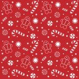 糖果圣诞节模式 免版税图库摄影