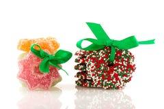 糖果圣诞节花圈 免版税库存照片