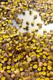 糖果在糖果工厂 库存图片