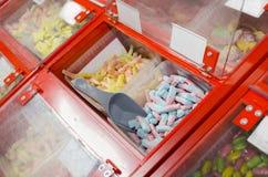 糖果在超级市场 免版税图库摄影