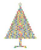 糖果巧克力圣诞节做结构树 免版税图库摄影