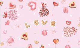 糖果心脏背景 向量例证