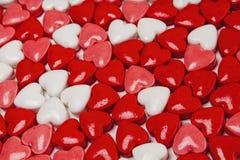 糖果心脏,华伦泰,天 免版税库存图片