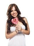 糖果愉快的棒棒糖妇女年轻人 库存图片