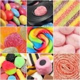 糖果拼贴画 免版税图库摄影