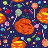 糖果无缝的万圣节 库存照片