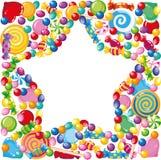 糖果星形 免版税库存照片
