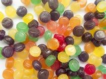 糖果有趣的背景在白色背景的 免版税库存图片