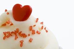 糖果杯形蛋糕重点红顶 库存图片