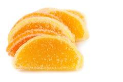 糖果果冻桔子片式 库存图片