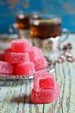糖果桃红色果冻 库存照片