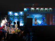 糖果模子由在中国歌剧庆祝的糖被做了 免版税图库摄影