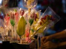 糖果模子由在中国歌剧庆祝的糖被做了 库存图片