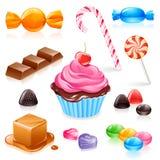 糖果混杂的向量 免版税图库摄影