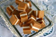 糖果焦糖正方形 免版税库存照片