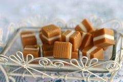 糖果焦糖正方形 库存照片