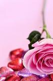 糖果玫瑰色华伦泰 免版税库存图片