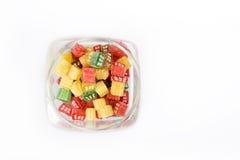 糖果玻璃瓶子糖甜点 库存照片