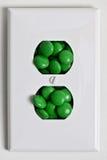 糖果电子绿色牌照 免版税库存照片