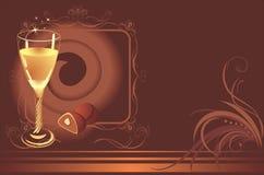 糖果看板卡香槟巧克力玻璃 库存例证