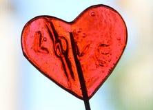 糖果红色心脏 库存照片