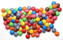 糖果美国 免版税库存图片
