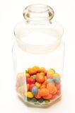 糖果色的玻璃瓶子 图库摄影