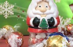 糖果被装载的圣诞老人 免版税库存图片