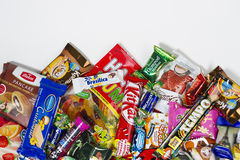 糖果,巧克力,甜点 免版税库存照片