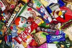 糖果,巧克力,甜点 免版税库存图片