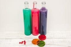 糖果,色的水抽象 免版税库存图片