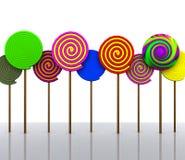 糖果- 3D 库存图片